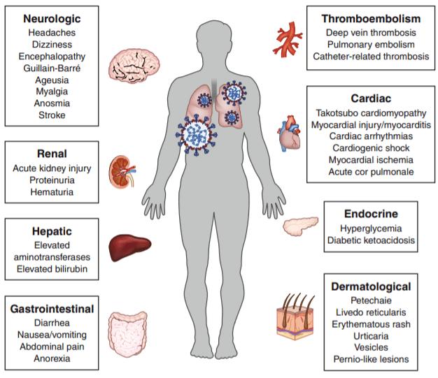 عوارض غیر تنفسی بیماری کوید-19